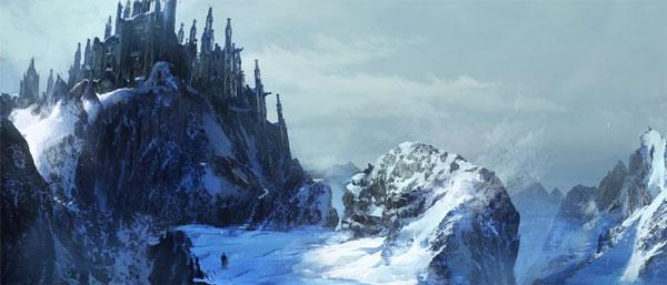 Winter castle concept