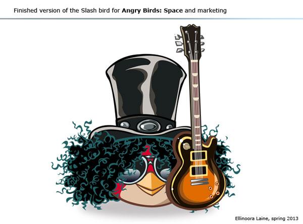 Slash bird for Angry Birds Space