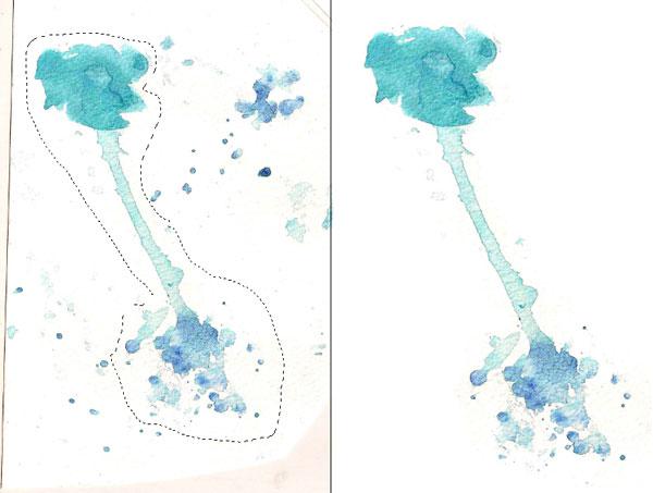 Isolate your chosen watercolor splash