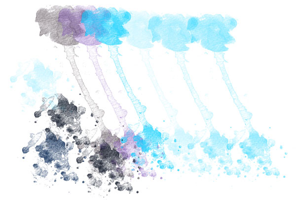 Play with your new watercolor brush