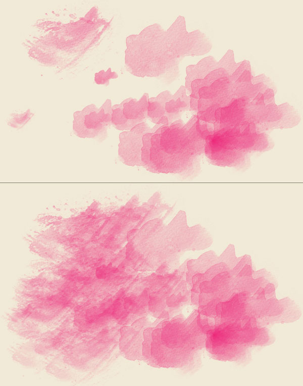 Different splash shapes create different brush styles