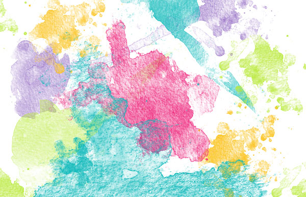 Create a colorful background from watercolor brushes