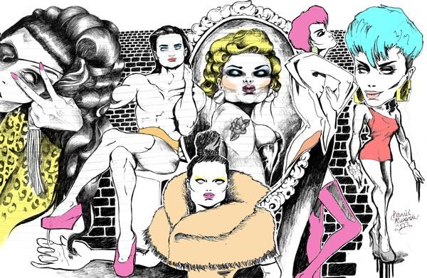 Drag queen medley design