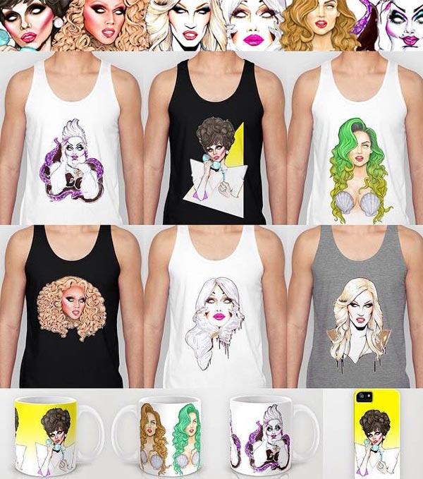 A small selection of products from Daniels Society6 shop