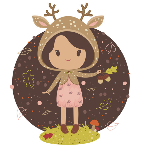 Little deer girl design
