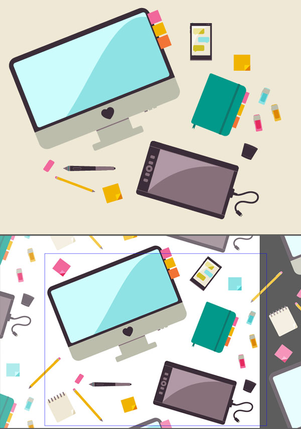 Create a Seamless Pattern of Flat Desk Icons in Adobe Illustrator