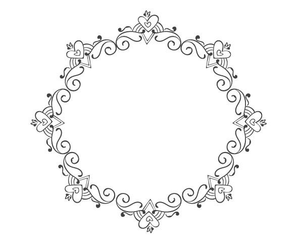Completed elegant frame