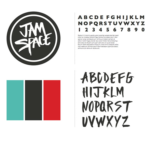 Jam Space branding by Lauren Magda