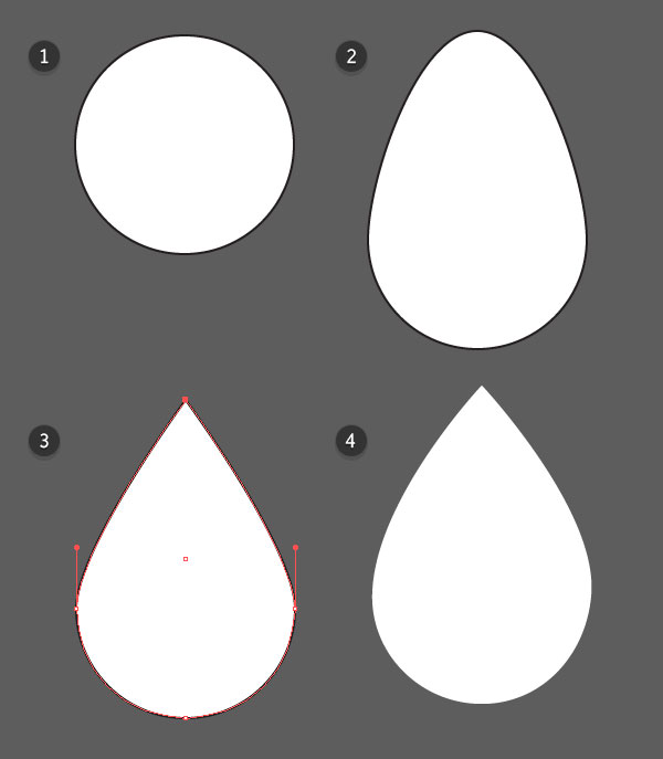 Create your raindrop shape