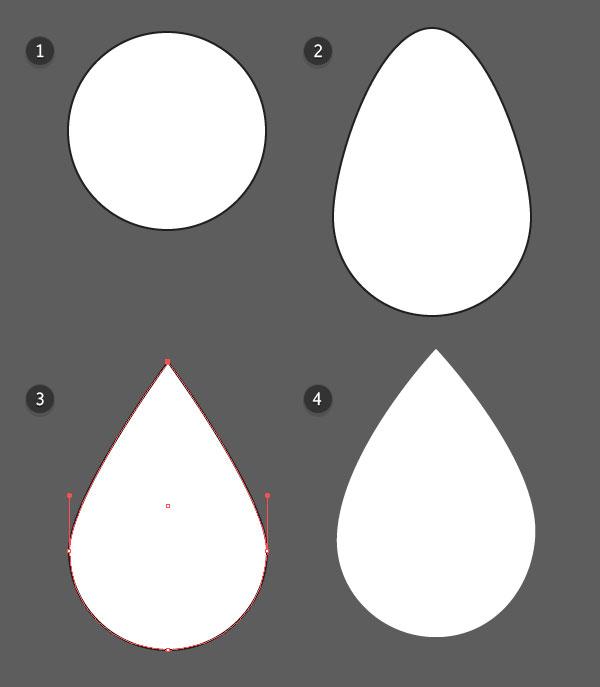 Create your raindrop shape
