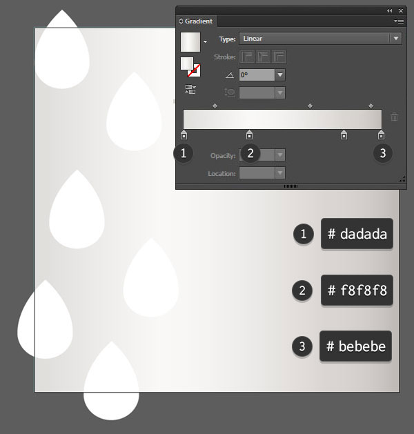 Copy and paste the raindrop shape