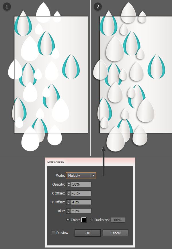 Add additional raindrops