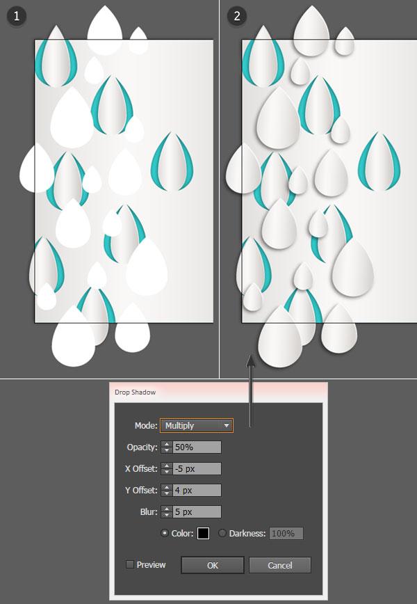 Add additional raindrops