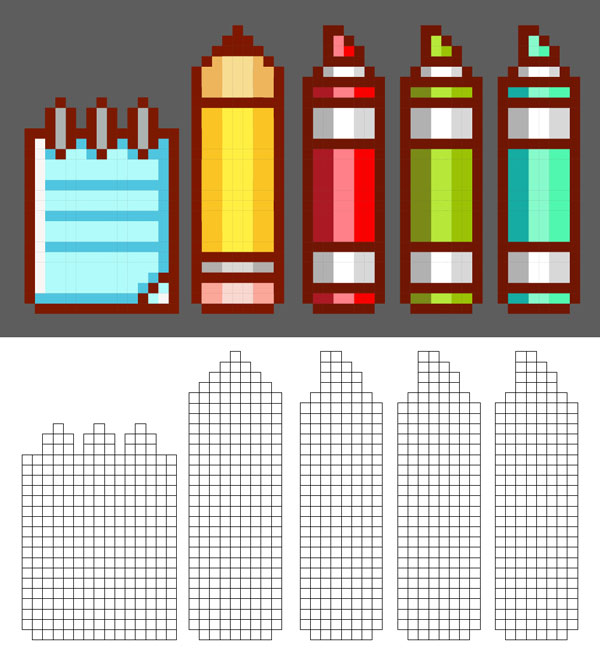 Complete your pixel art designs