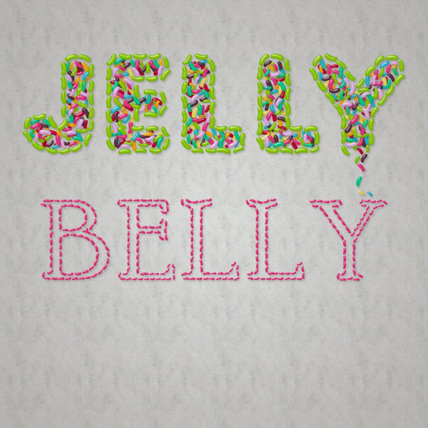 Jelly Belly text effect created by Sparkle Sapp