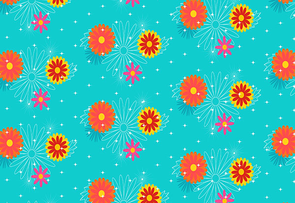 The final floral pattern