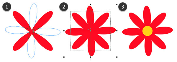 Duplicate rotate and align the petals
