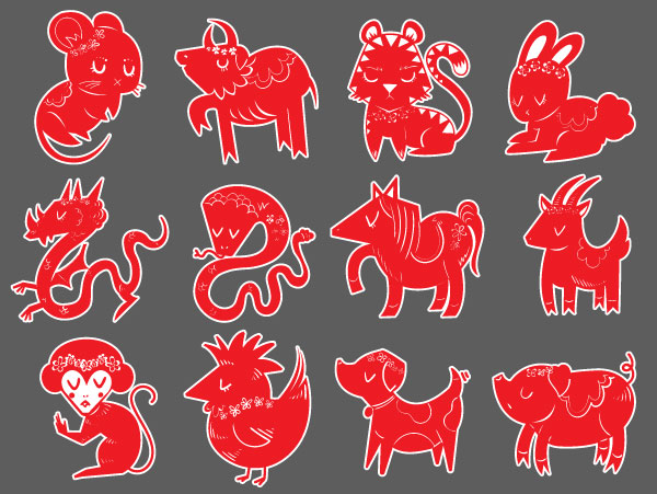 How to create a stylized chinese zodiac icon set in adobe final product image toneelgroepblik Image collections