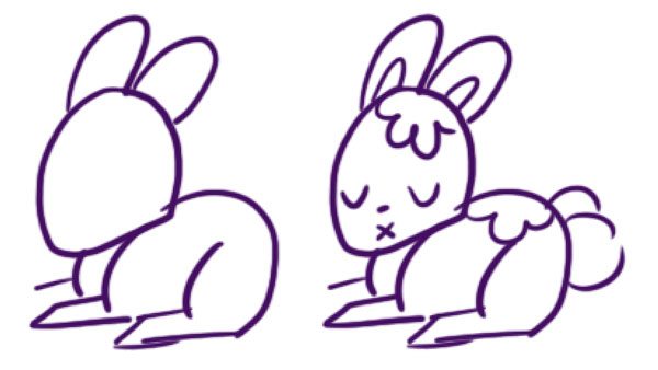 Complete the rabbits design