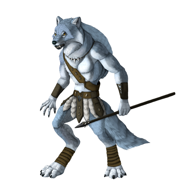 Illustration for tutorial Design a Model Sheet of a Werewolf Warrior