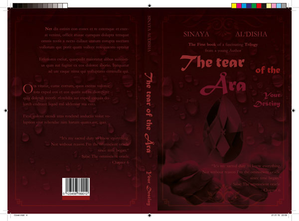 Crysanders historical fiction book cover design