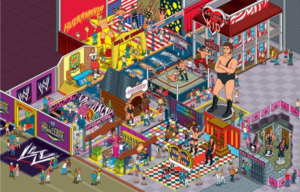 WWE Hall Of Fame Revealed - Editorial Illustration