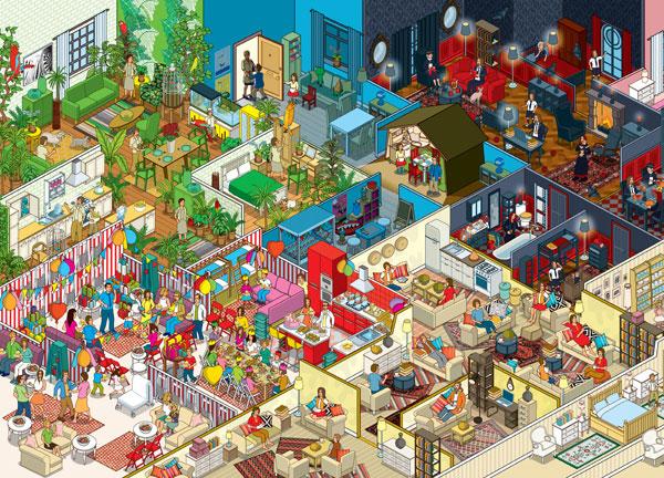 Ikea apartment illustrattion