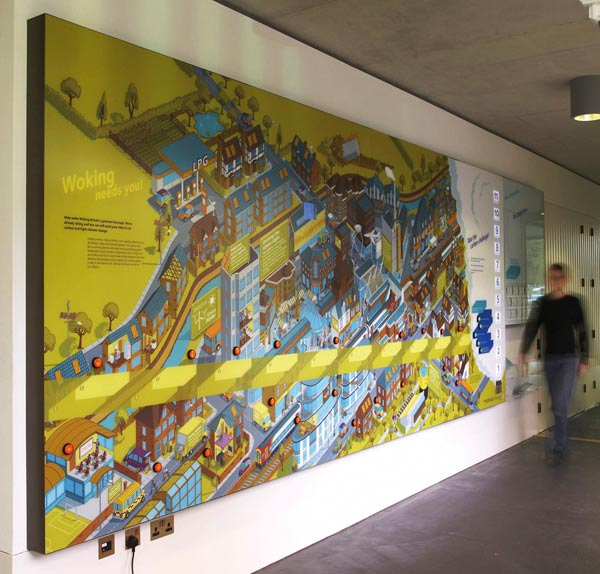 Lightbox Interactive Environmental Graphic Display