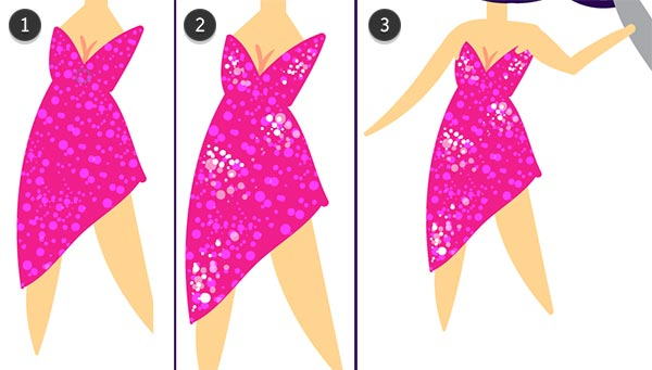 Create a sparkling evening gown