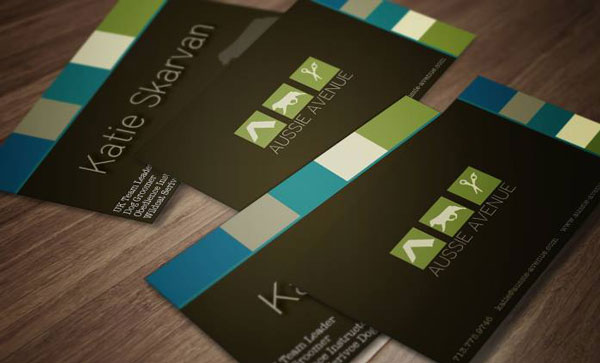Aussie Avenue business card designs by Kea Grace