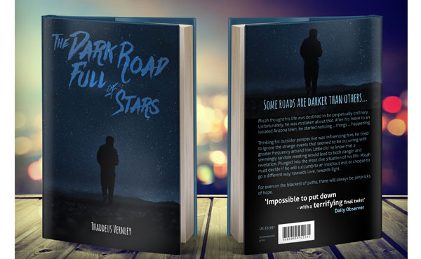 Thriller novel book cover design by Leese Johnstone