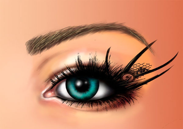 Katties digitally painted eye