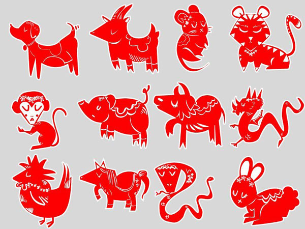 Dukens set of chinese zodiac icons