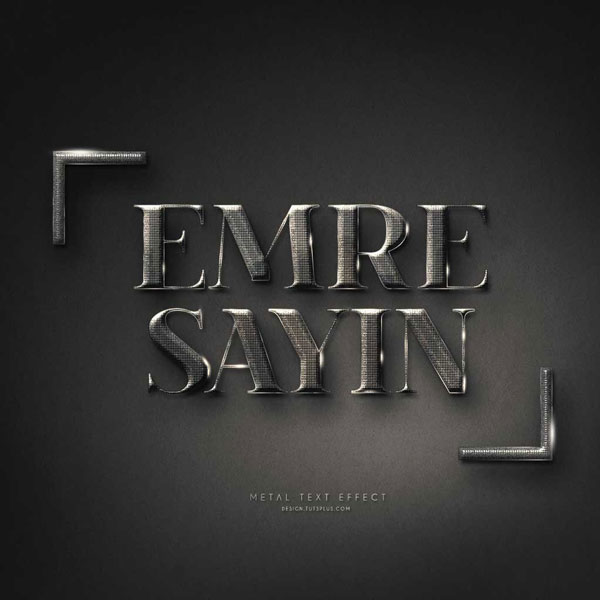 Emre Sayins personalized text effect design