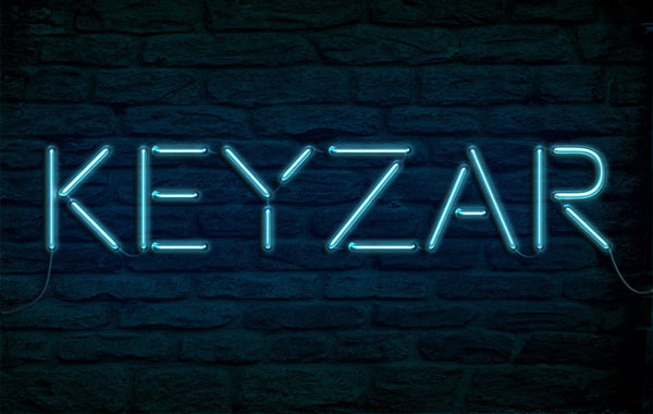 Keyzars personalized neon lettering result