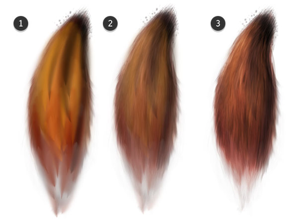 Add layers of color to your tail