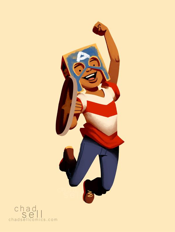 Captain America dress-up