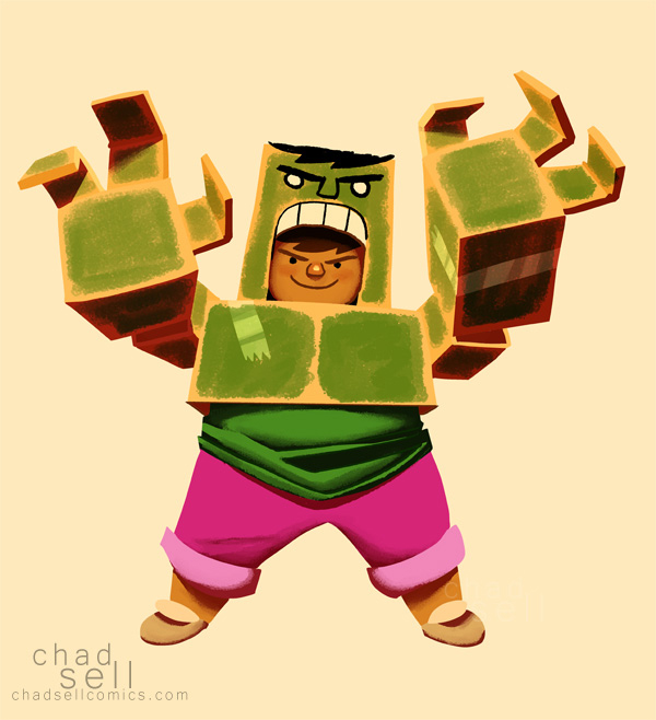 Incredible Hulk dress-up