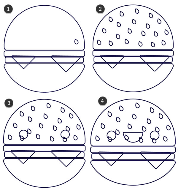 Draw details on your hamburger