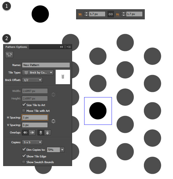 create a simple dot pattern
