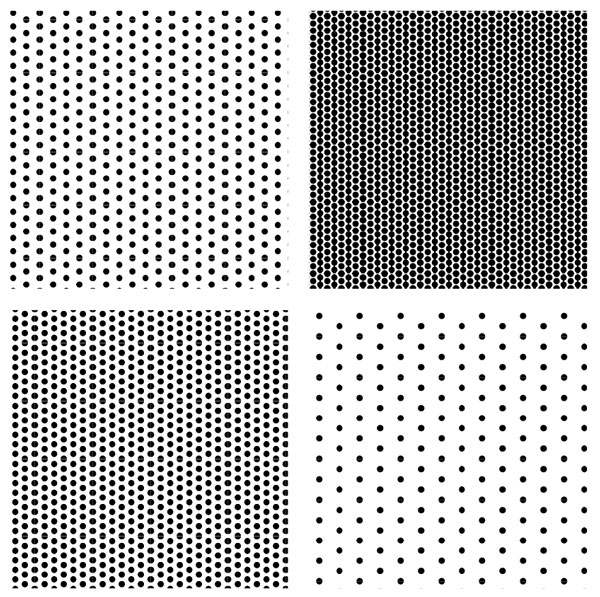 variations in halftone patterns