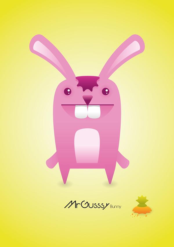 MyGusseys bunny vector character