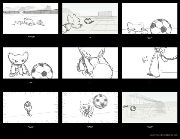 Storyboard created in Louie Del Carmens CDA class by Jason Dwyer