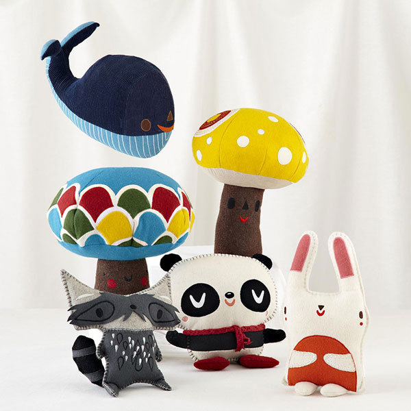 Cute plush designs for The Land of Nod