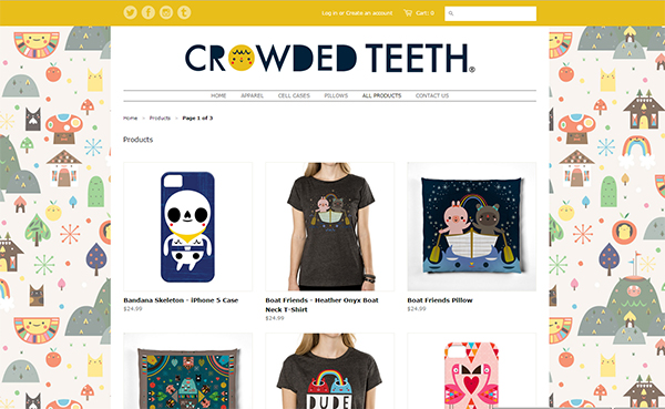 Crowded Teeth web shop