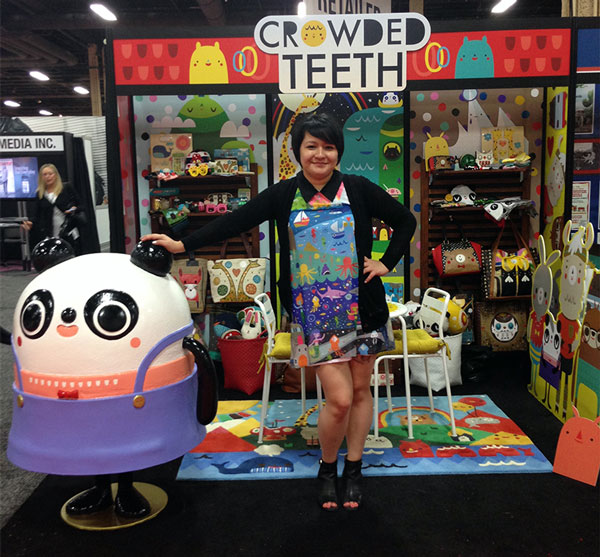The Crowded Teeth booth at the Licensing Expo