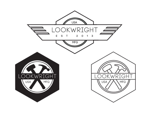 Lookwright logo designs by Stephanie Limon