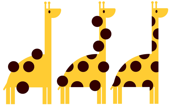 Add a quick and easy circle pattern to the giraffe