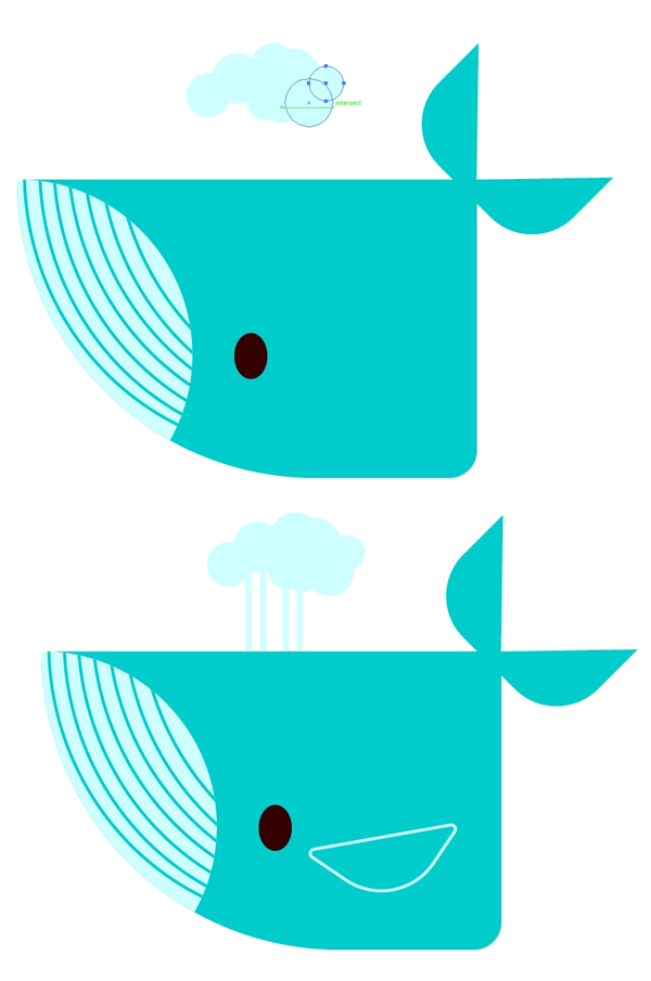 Add details to complete the whales design