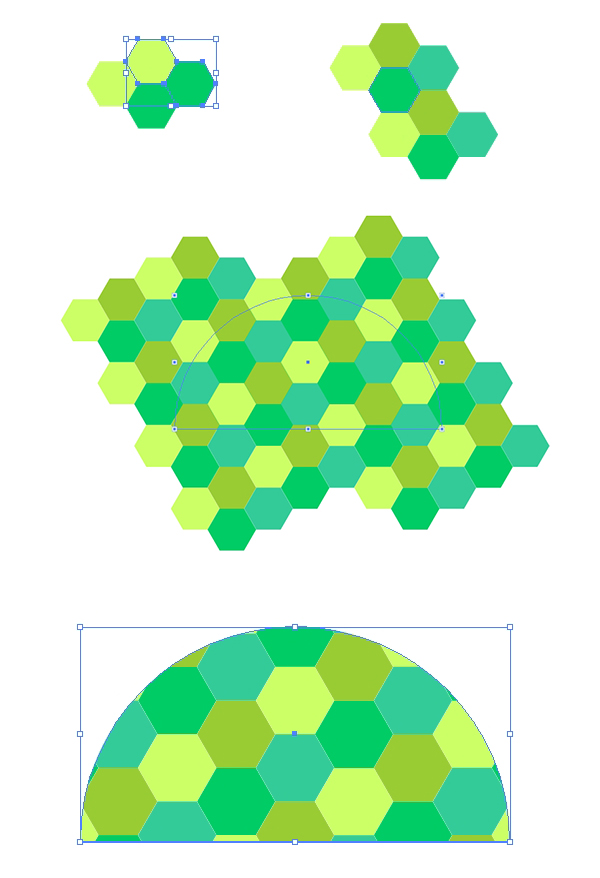 Create a hexagon patterned turtle shell